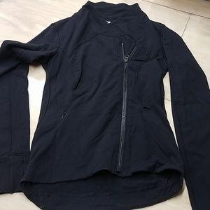 Lululemon Black sweatershirt with asymmetrical zip